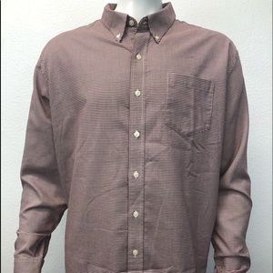 Men's LL Bean Red Checkered Shirt XXL Reg